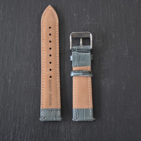 Leather Strap Slate Grey