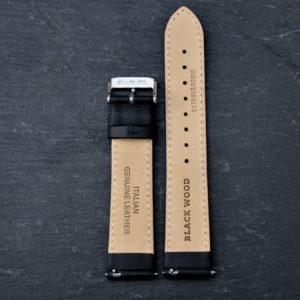 "Echtleder Armband ""Classic Black Elegance"" Damen"